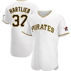 Geoff Hartlieb Pittsburgh Pirates Men's Authentic Home Jersey - White