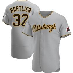 Geoff Hartlieb Pittsburgh Pirates Men's Authentic Road Jersey - Gray