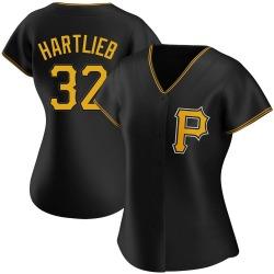 Geoff Hartlieb Pittsburgh Pirates Women's Authentic Alternate Jersey - Black