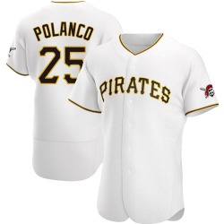 Gregory Polanco Pittsburgh Pirates Men's Authentic Home Jersey - White