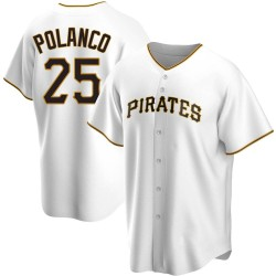 Gregory Polanco Pittsburgh Pirates Men's Replica Home Jersey - White