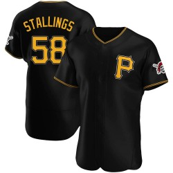 Jacob Stallings Pittsburgh Pirates Men's Authentic Alternate Jersey - Black