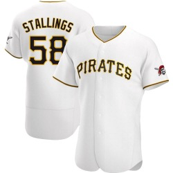Jacob Stallings Pittsburgh Pirates Men's Authentic Home Jersey - White