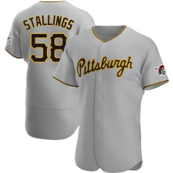 Jacob Stallings Pittsburgh Pirates Men's Authentic Road Jersey - Gray