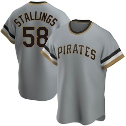 Jacob Stallings Pittsburgh Pirates Men's Replica Road Cooperstown Collection Jersey - Gray