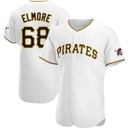 Jake Elmore Pittsburgh Pirates Men's Authentic Home Jersey - White