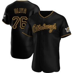 Jared Oliva Pittsburgh Pirates Men's Authentic Alternate Team Jersey - Black