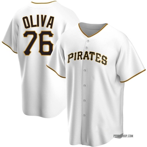 Jared Oliva Pittsburgh Pirates Youth Replica Home Jersey - White