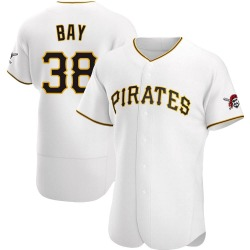 Jason Bay Pittsburgh Pirates Men's Authentic Home Jersey - White