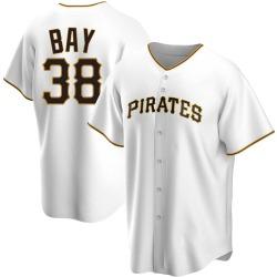 Jason Bay Pittsburgh Pirates Men's Replica Home Jersey - White