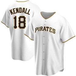 Jason Kendall Pittsburgh Pirates Men's Replica Home Jersey - White