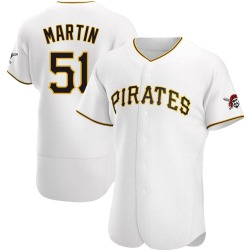 Jason Martin Pittsburgh Pirates Men's Authentic Home Jersey - White