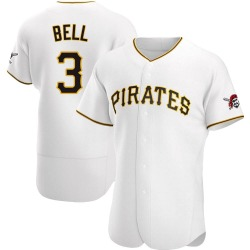 Jay Bell Pittsburgh Pirates Men's Authentic Home Jersey - White