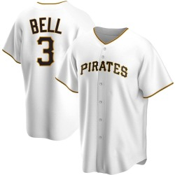 Jay Bell Pittsburgh Pirates Men's Replica Home Jersey - White
