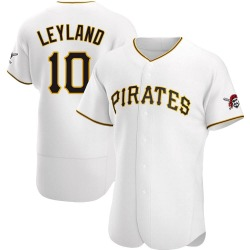 Jim Leyland Pittsburgh Pirates Men's Authentic Home Jersey - White