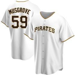 Joe Musgrove Pittsburgh Pirates Men's Replica Home Jersey - White