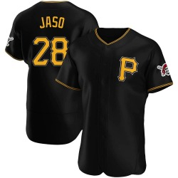 John Jaso Pittsburgh Pirates Men's Authentic Alternate Jersey - Black