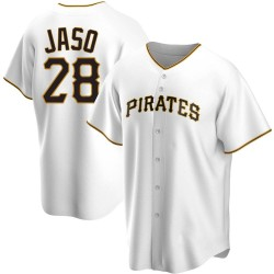 John Jaso Pittsburgh Pirates Men's Replica Home Jersey - White