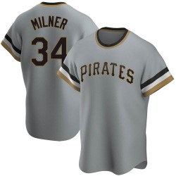 John Milner Pittsburgh Pirates Men's Replica Road Cooperstown Collection Jersey - Gray