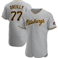 John OReilly Pittsburgh Pirates Men's Authentic Road Jersey - Gray