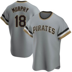 John Ryan Murphy Pittsburgh Pirates Youth Replica Road Cooperstown Collection Jersey - Gray