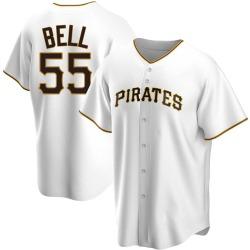 Josh Bell Pittsburgh Pirates Men's Replica Home Jersey - White