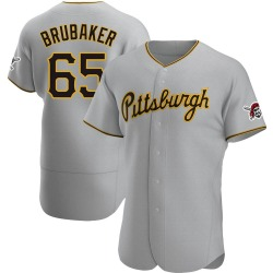 JT Brubaker Pittsburgh Pirates Men's Authentic Road Jersey - Gray