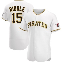 JT Riddle Pittsburgh Pirates Men's Authentic Home Jersey - White