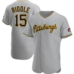 JT Riddle Pittsburgh Pirates Men's Authentic Road Jersey - Gray