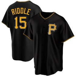 JT Riddle Pittsburgh Pirates Men's Replica Alternate Jersey - Black