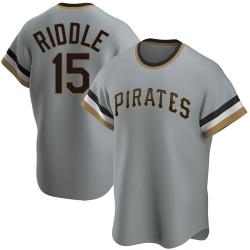 JT Riddle Pittsburgh Pirates Men's Replica Road Cooperstown Collection Jersey - Gray