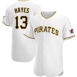 KeBryan Hayes Pittsburgh Pirates Men's Authentic Home Jersey - White