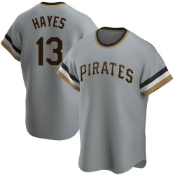 KeBryan Hayes Pittsburgh Pirates Men's Replica Road Cooperstown Collection Jersey - Gray