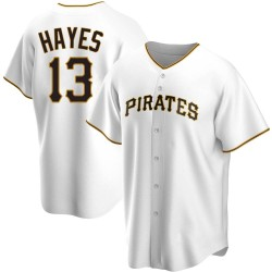 KeBryan Hayes Pittsburgh Pirates Youth Replica Home Jersey - White