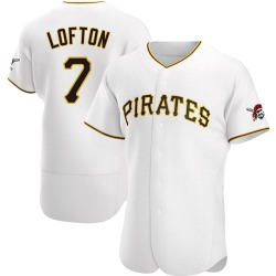 Kenny Lofton Pittsburgh Pirates Men's Authentic Home Jersey - White