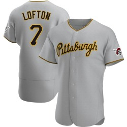 Kenny Lofton Pittsburgh Pirates Men's Authentic Road Jersey - Gray