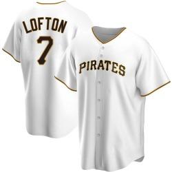 Kenny Lofton Pittsburgh Pirates Men's Replica Home Jersey - White