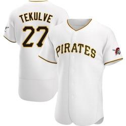Kent Tekulve Pittsburgh Pirates Men's Authentic Home Jersey - White
