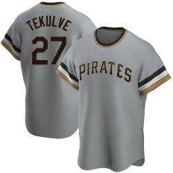 Kent Tekulve Pittsburgh Pirates Men's Replica Road Cooperstown Collection Jersey - Gray