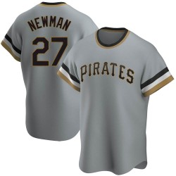 Kevin Newman Pittsburgh Pirates Men's Replica Road Cooperstown Collection Jersey - Gray