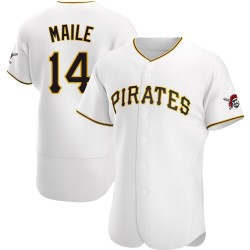 Luke Maile Pittsburgh Pirates Men's Authentic Home Jersey - White