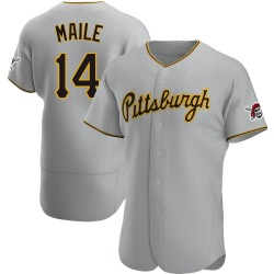 Luke Maile Pittsburgh Pirates Men's Authentic Road Jersey - Gray