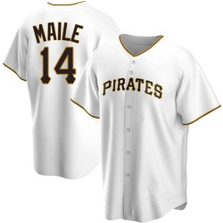 Luke Maile Pittsburgh Pirates Youth Replica Home Jersey - White