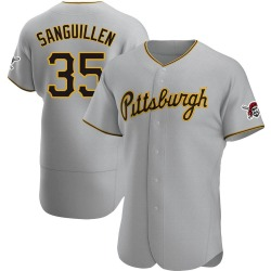 Manny Sanguillen Pittsburgh Pirates Men's Authentic Road Jersey - Gray