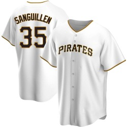 Manny Sanguillen Pittsburgh Pirates Men's Replica Home Jersey - White