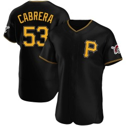 Melky Cabrera Pittsburgh Pirates Men's Authentic Alternate Jersey - Black