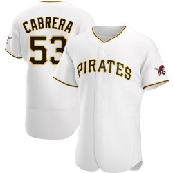Melky Cabrera Pittsburgh Pirates Men's Authentic Home Jersey - White