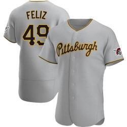 Michael Feliz Pittsburgh Pirates Men's Authentic Road Jersey - Gray