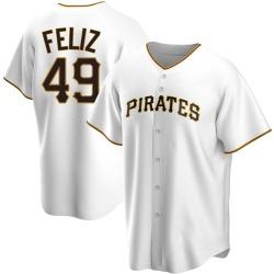 Michael Feliz Pittsburgh Pirates Men's Replica Home Jersey - White