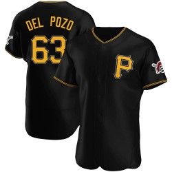 Miguel Del Pozo Pittsburgh Pirates Men's Authentic Alternate Jersey - Black